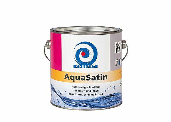 Conpart  AquaSatin 8052 - Weiß- und Buntlacke -  Für den Einsatz im Innen- und Außenbereich 2,5 Liter