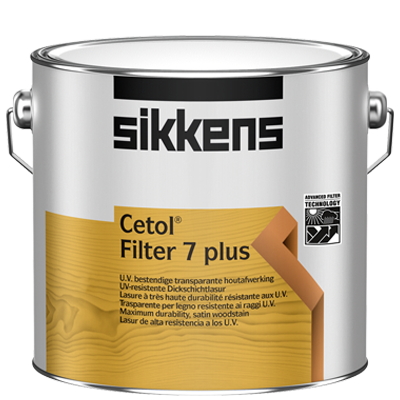 Sikkens Cetol Filter 7 Plus Dickschicht Holzlasur - 2,5 Liter Nussbaum