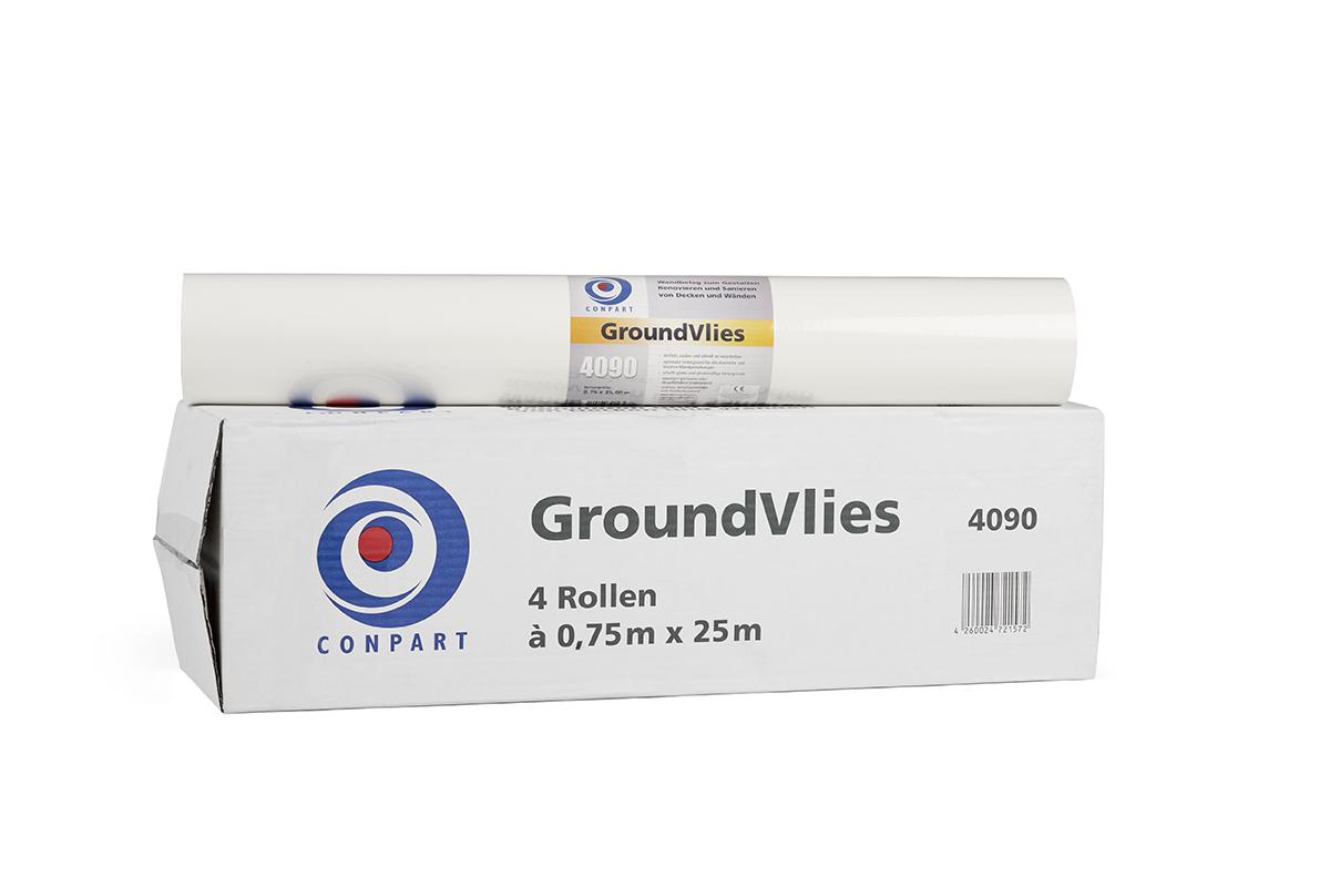 Conpart Groundvlies 4090 im 4-er Pack - strapazierfähig, reißfest und rissüberbrückend