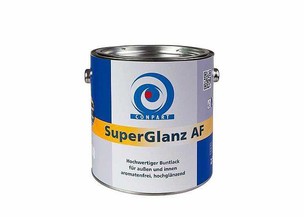 Conpart - SuperGlanz AF 8060  Weiß- und Buntlacke  Hochglänzende, reinweiße Spezial-Alkydharz-Lackfarbe für außen und innen - 2,5 Liter