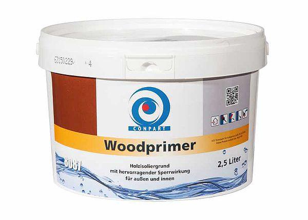 Conpart -  Woodprimer 8087 Wetterschutzfarben - Wasserverdünnbare Grundierung mit hervorragender Isolier- und Absperrwirkung wasserlöslicher, braunverfärbender Holzinhaltsstoffe für außen und innen - 2,5 Liter