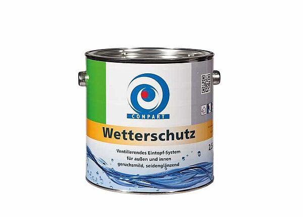 Conpart  Wetterschutz 8088 - Wetterschutzfarben - Zur Beschichtung von Anschlussbauteilen aus Zink u. Aluminium im Fassadenbereich, wie Dachrinnen oder Fallrohre geeignet - 2,5 Liter