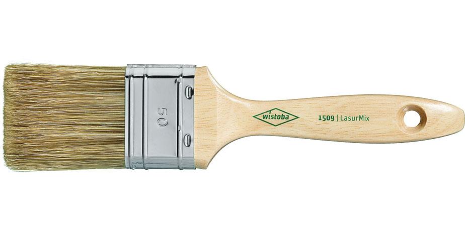 Wistoba Flachpinsel 1509 12. Stärke - Für lösemittel- und wasserbasierende Lacke & Lasuren