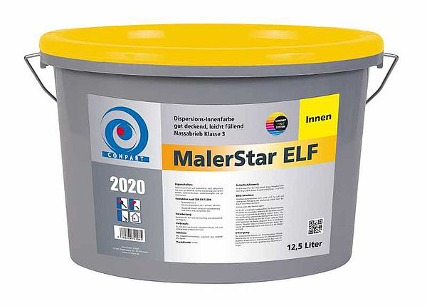 Conpart MalerStar ELF 2020 - Gut deckende Innenfarbe, für Wand- und Deckenbeschichtungen - 5 Liter