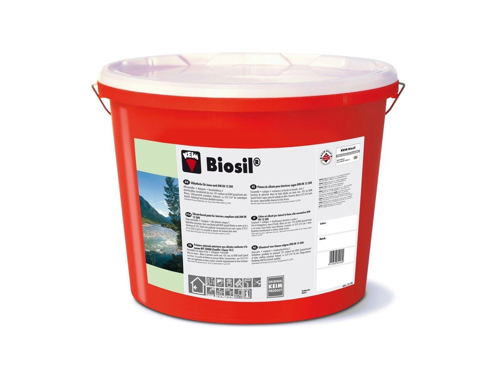 KEIM Biosil - 5 Liter Weiß- Ökologische Silikatfarbe für gesundes Wohnen