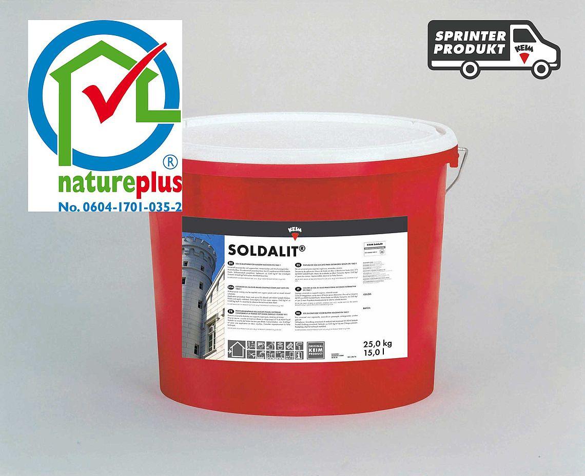 KEIM Soldalit - 18 kg Altweiß - Sol-Silikatfarbe für hochwertige Fassadenanstriche