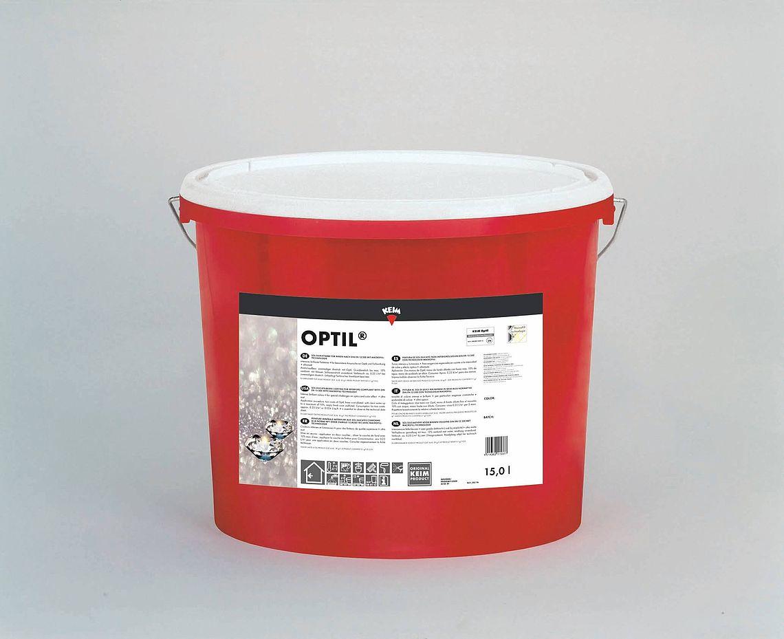 KEIM Optil - 15 Liter Weiß - Anwendungsfertige Sol-Silikatfarbe für Innen