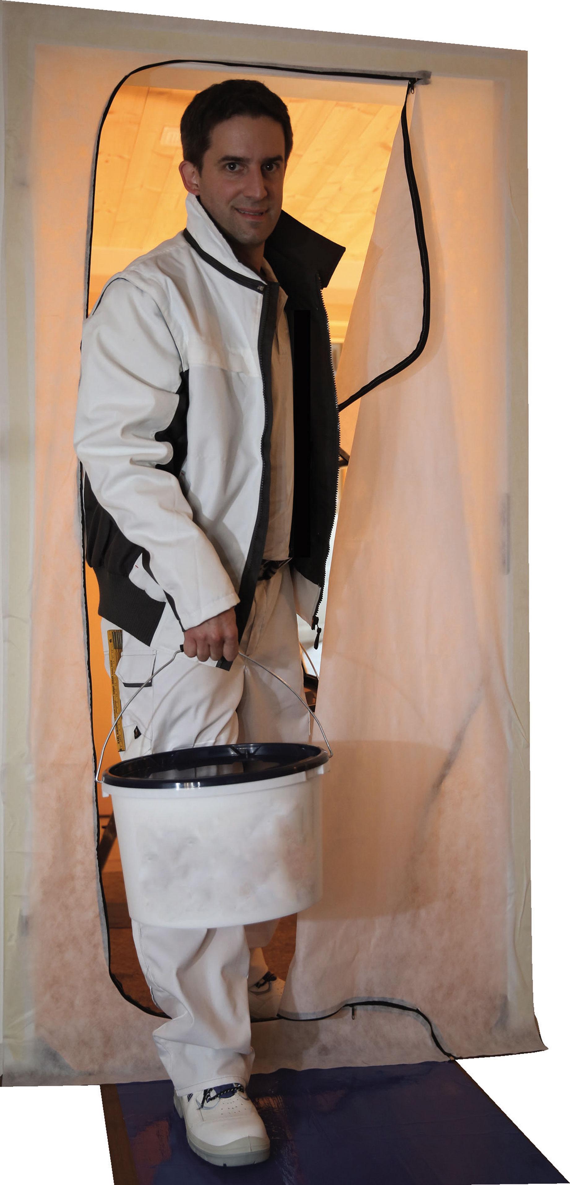 Kirchner Staubschutztür Duo - für jede Tür bis max. 100 x 210 cm geeignet
