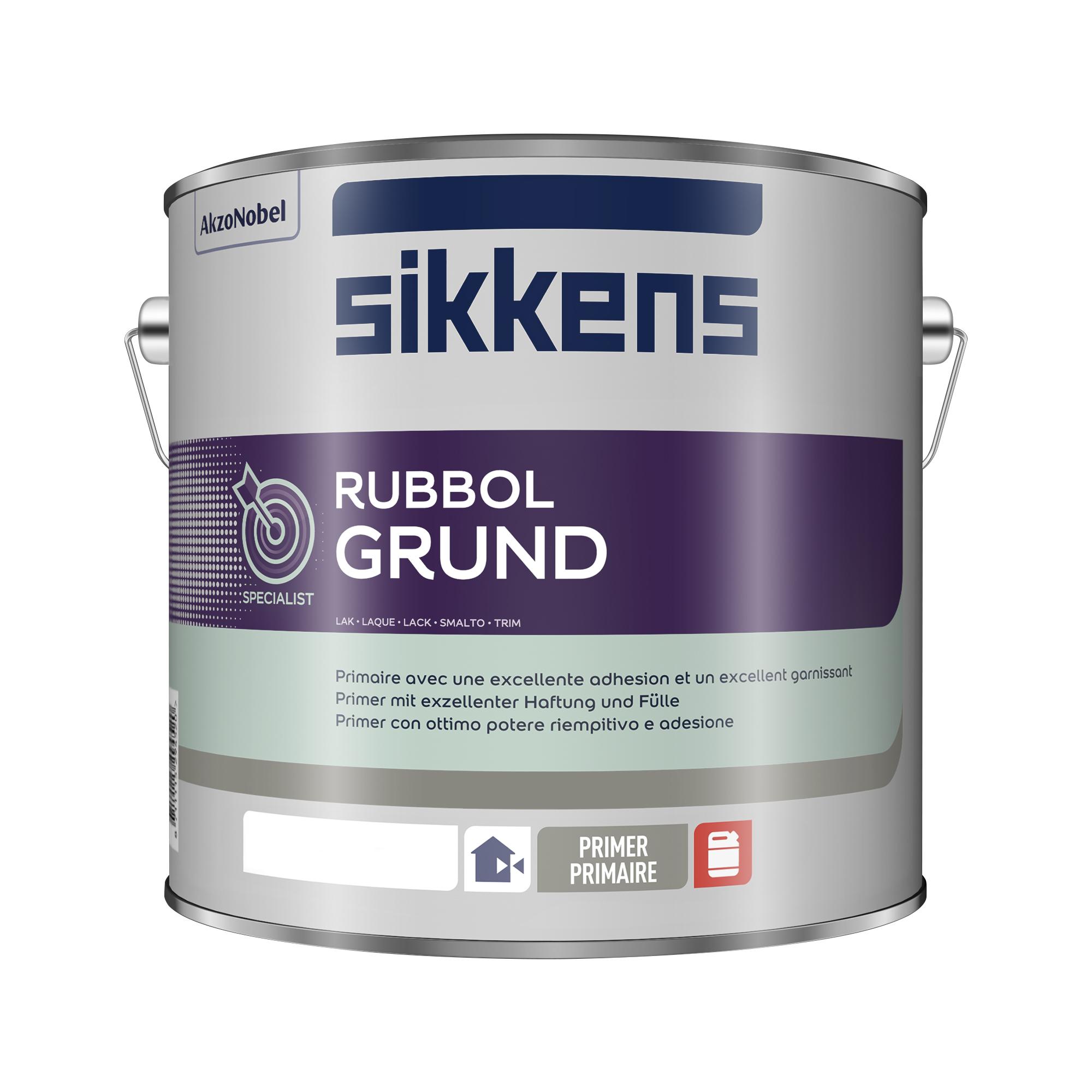 Sikkens Rubbol Grund Seidenmatt - Weiss - 2,5 Liter