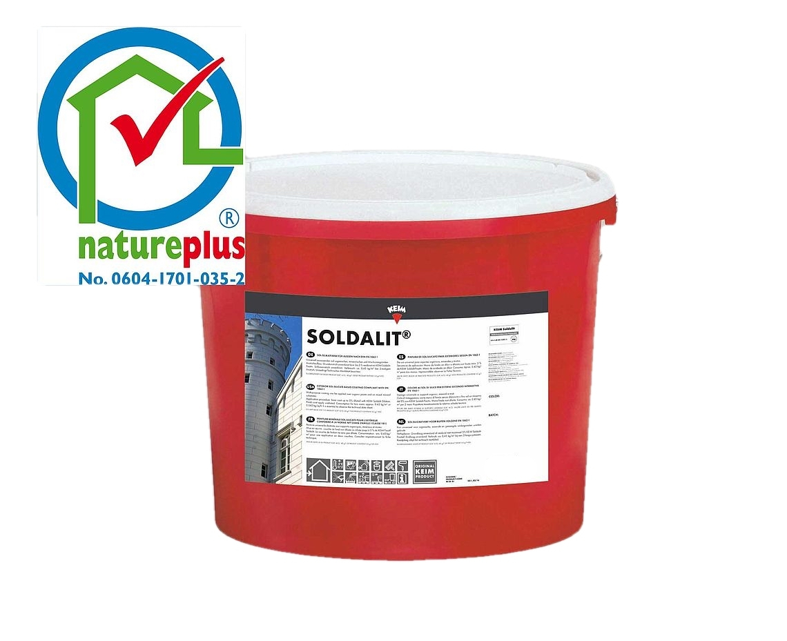 KEIM Soldalit - 18 kg Weiß - Sol-Silikatfarbe für hochwertige Fassadenanstriche