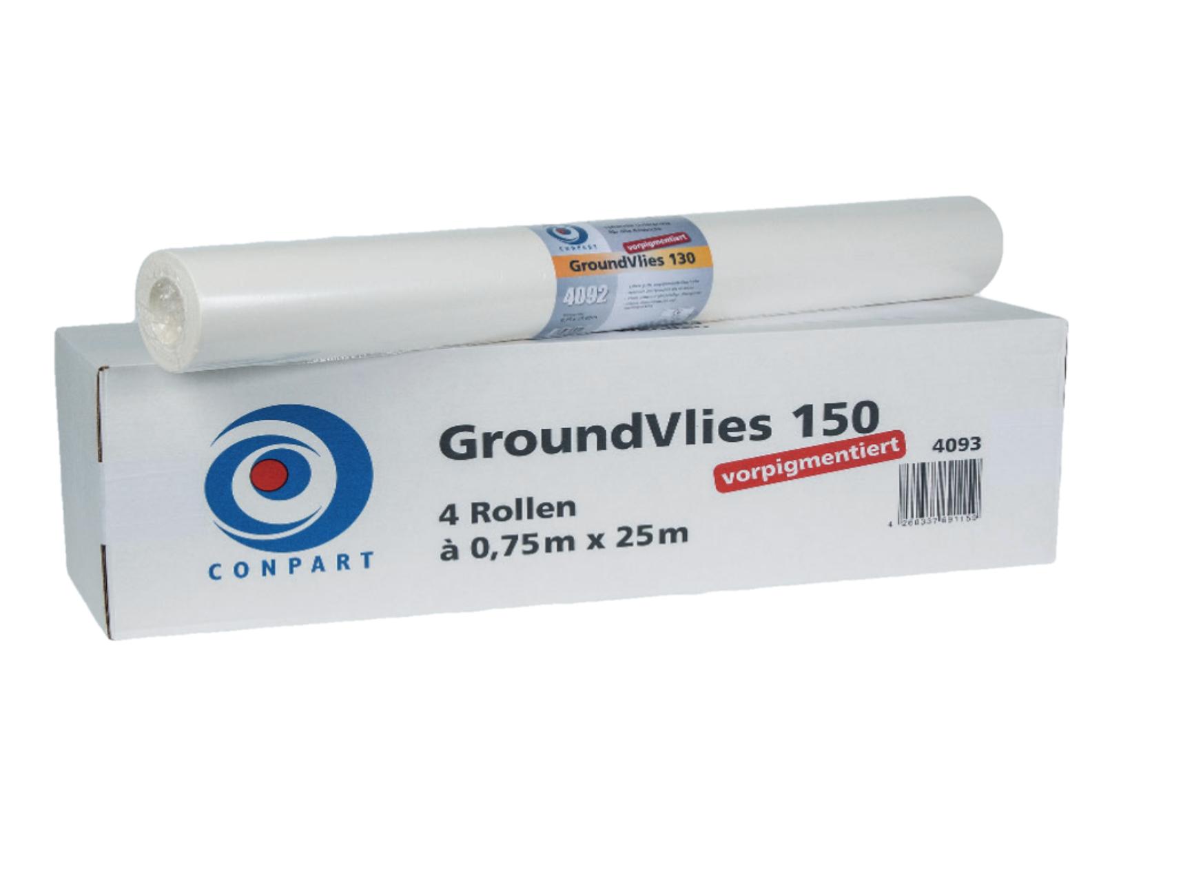 Conpart Groundvlies 4093 150 - 25,00 x 0,75 m - ca. 150 g/m² Vorpigmentiert