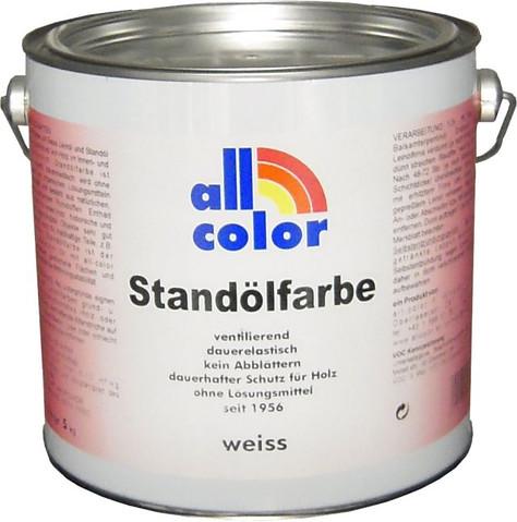 """Standölfarbe nach Farbtonfächer """"Historische Leinölfarben"""" von All-color  - 5 Kg"""